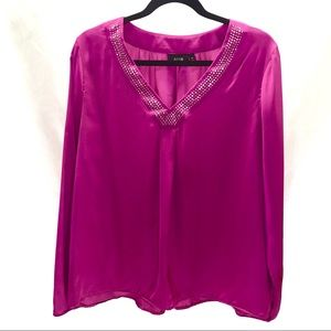 Apt 9. long sleeve peasant blouse